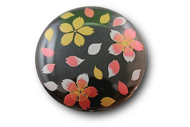 やきもの 焼き物 陶磁器 アクセサリー 小物雑貨 有田焼マグネット 黒桜吹雪(赤)