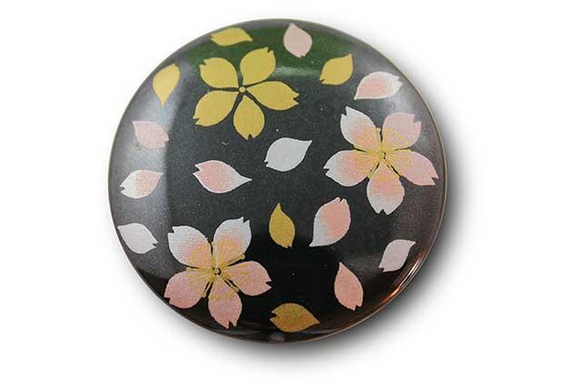 やきもの 焼き物 陶磁器 アクセサリー 小物雑貨 有田焼マグネット 黒桜吹雪(ピンク)
