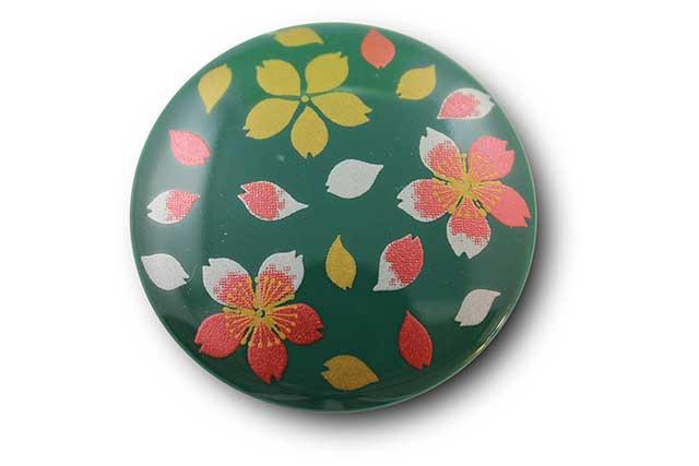 やきもの 焼き物 陶磁器 アクセサリー 小物雑貨 有田焼マグネット 緑桜吹雪