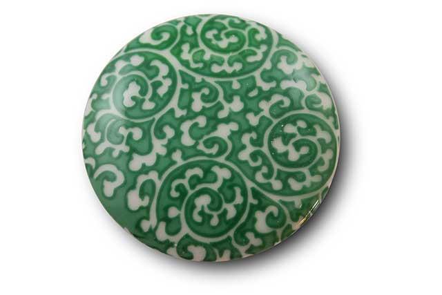 やきもの 焼き物 陶磁器 アクセサリー 小物雑貨 有田焼マグネット 緑唐草