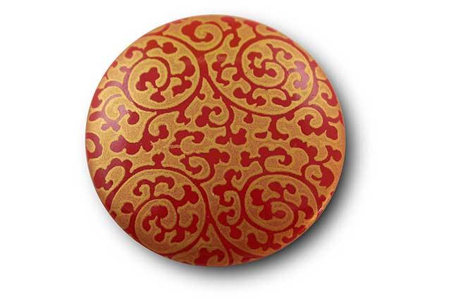 やきもの 焼き物 陶磁器 アクセサリー 小物雑貨 有田焼マグネット 赤金唐草