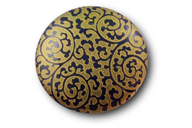 やきもの 焼き物 陶磁器 アクセサリー 小物雑貨 有田焼マグネット るり金唐草