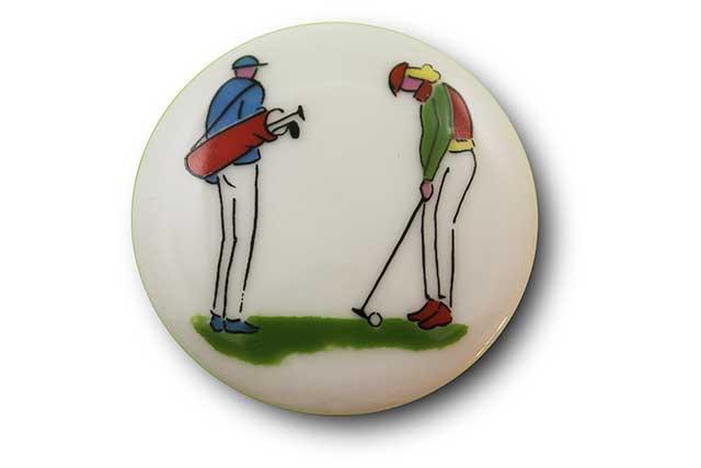 やきもの 焼き物 陶磁器 アクセサリー 小物雑貨 有田焼マグネット ゴルファー