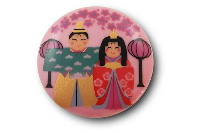 やきもの 焼き物 陶磁器 アクセサリー 小物雑貨 有田焼マグネット ピンクおひな様