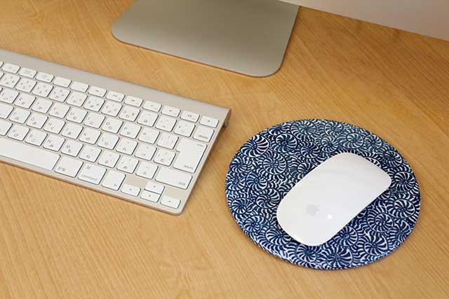 やきもの 焼き物 陶磁器 アクセサリー 小物雑貨 有田焼染付マウスパッド たこ唐草
