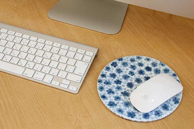 やきもの 焼き物 陶磁器 アクセサリー 小物雑貨 有田焼染付マウスパッド 桜紋様