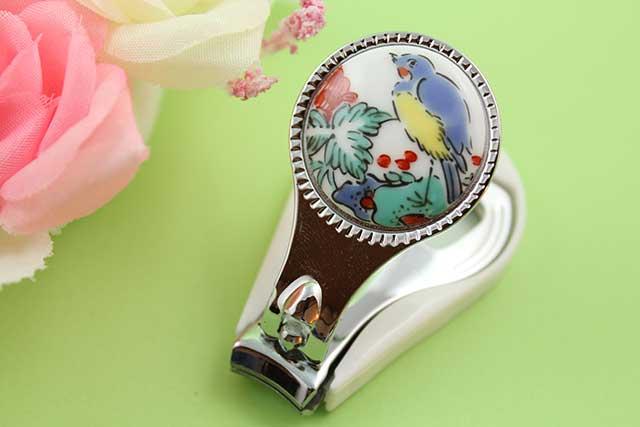 やきもの 焼き物 陶磁器 アクセサリー 小物雑貨 有田焼爪切り 花鳥