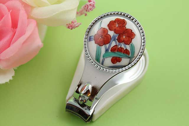 やきもの 焼き物 陶磁器 アクセサリー 小物雑貨 有田焼爪切り つゆ草