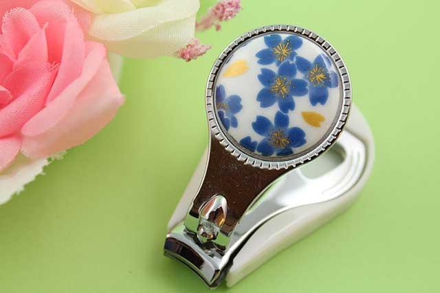 やきもの 焼き物 陶磁器 アクセサリー 小物雑貨 有田焼爪切り ブルー桜