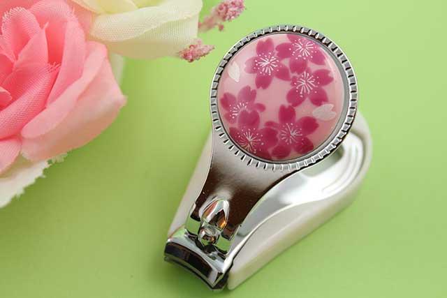 やきもの 焼き物 陶磁器 アクセサリー 小物雑貨 有田焼爪切り ピンク桜