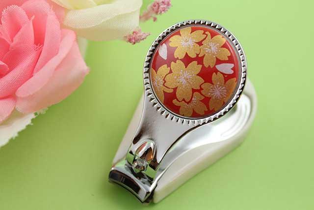 やきもの 焼き物 陶磁器 アクセサリー 小物雑貨 有田焼爪切り 赤金桜