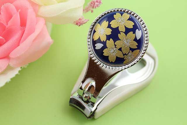 やきもの 焼き物 陶磁器 アクセサリー 小物雑貨 有田焼爪切り るり金桜