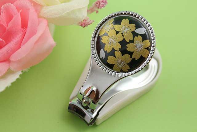 やきもの 焼き物 陶磁器 アクセサリー 小物雑貨 有田焼爪切り 黒金桜