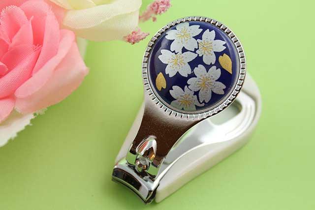 やきもの 焼き物 陶磁器 アクセサリー 小物雑貨 有田焼爪切り るり銀桜