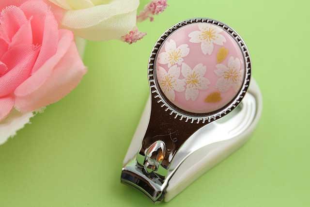やきもの 焼き物 陶磁器 アクセサリー 小物雑貨 有田焼爪切り ピンク銀桜