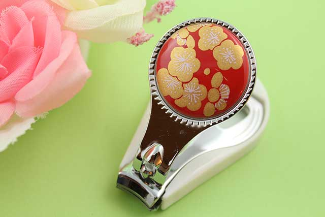 やきもの 焼き物 陶磁器 アクセサリー 小物雑貨 有田焼爪切り 赤金梅