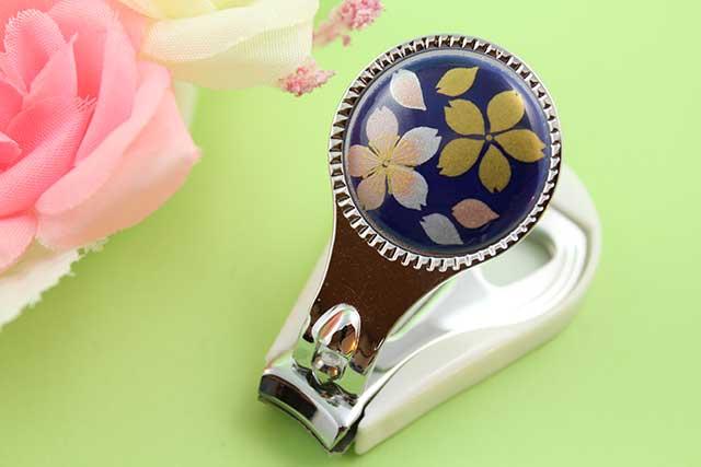やきもの 焼き物 陶磁器 アクセサリー 小物雑貨 有田焼爪切り るり桜吹雪(ピンク)