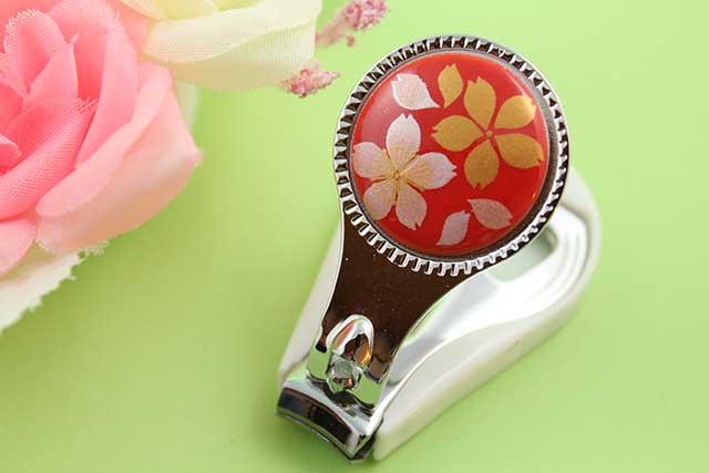 やきもの 焼き物 陶磁器 アクセサリー 小物雑貨 有田焼爪切り 赤桜吹雪