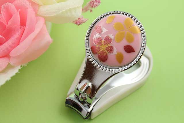 やきもの 焼き物 陶磁器 アクセサリー 小物雑貨 有田焼爪切り ピンク桜吹雪