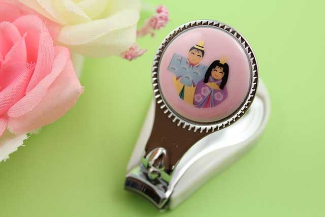 やきもの 焼き物 陶磁器 アクセサリー 小物雑貨 有田焼爪切り ピンクおひな様