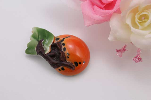 有田焼帯留 柿