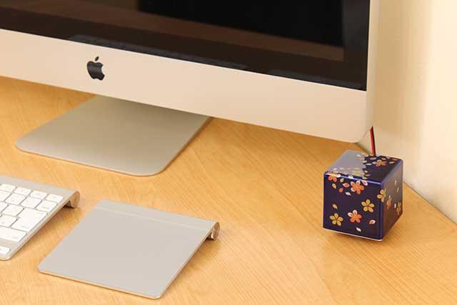 やきもの 焼き物 陶磁器 アクセサリー 小物雑貨 有田焼染付音箱 -OTOBAKO- 金彩桜LULI