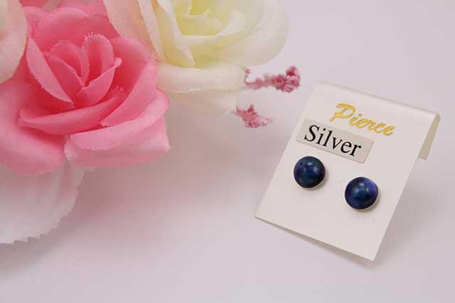 有田焼ピアス るりブルー(silver925シリコンキャッチ)