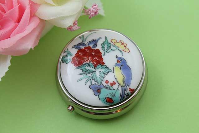 やきもの 焼き物 陶磁器 アクセサリー 小物雑貨 有田焼ピルケース 花鳥