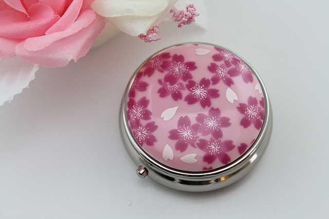 やきもの 焼き物 陶磁器 アクセサリー 小物雑貨 有田焼ピルケース ピンク桜