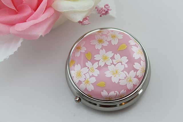 やきもの 焼き物 陶磁器 アクセサリー 小物雑貨 有田焼ピルケース ピンク銀桜