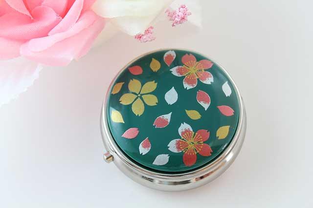やきもの 焼き物 陶磁器 アクセサリー 小物雑貨 有田焼ピルケース 緑桜吹雪