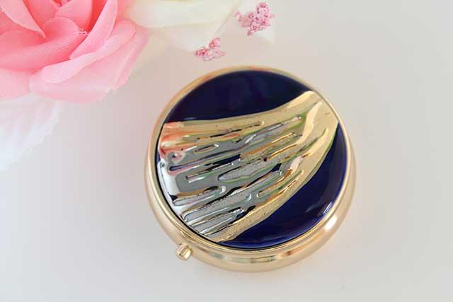 やきもの 焼き物 陶磁器 アクセサリー 小物雑貨 有田焼ピルケース 流星ブルー