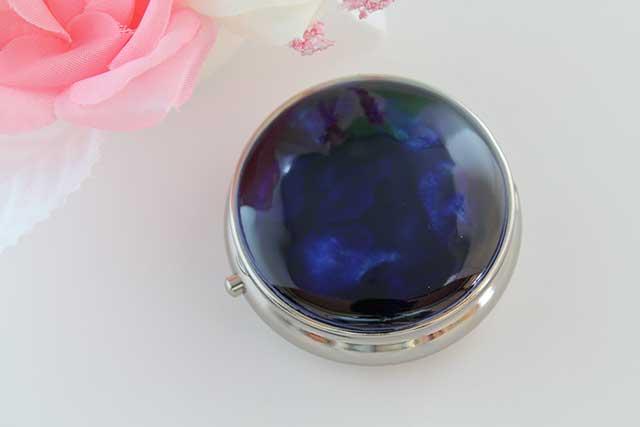 やきもの 焼き物 陶磁器 アクセサリー 小物雑貨 有田焼ピルケース るりブルー