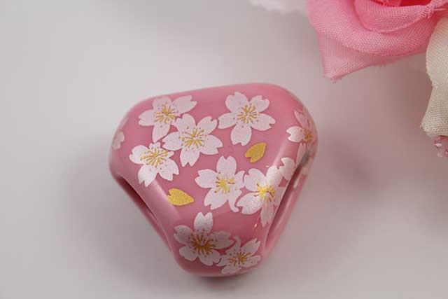 有田焼スカーフ留 ピンク銀桜