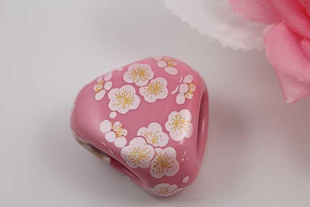 有田焼スカーフ留 ピンク銀梅