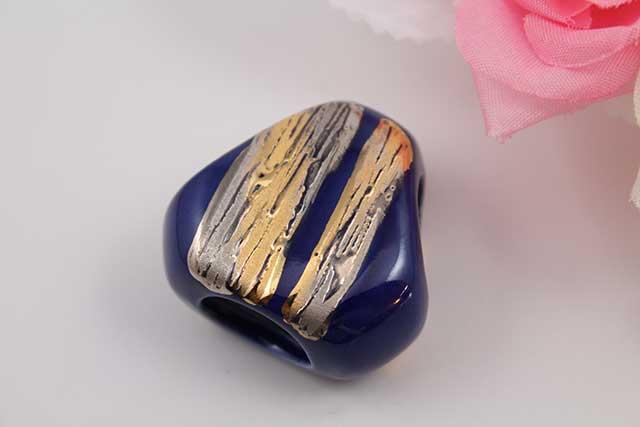 有田焼スカーフ留 流星ブルー