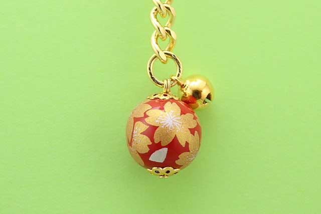 有田焼キーホルダー 赤金桜