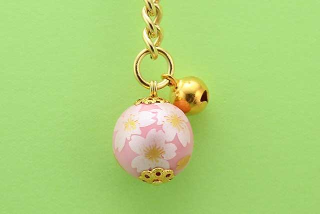 有田焼キーホルダー ピンク銀桜