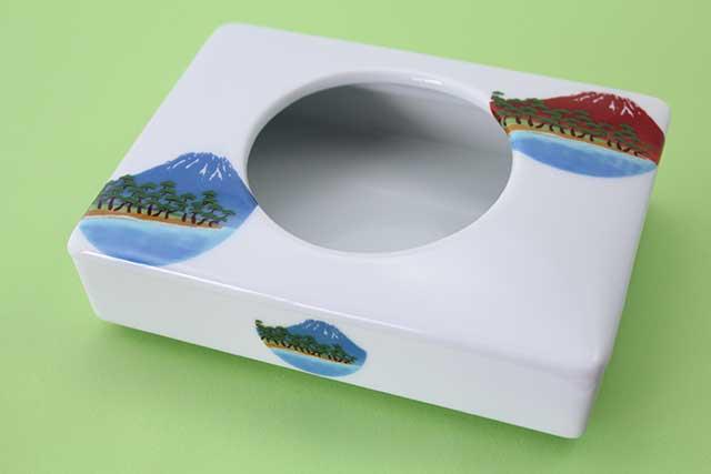 やきもの 焼き物 陶磁器 アクセサリー 小物雑貨 有田焼ミニティッシュケース 富士山松