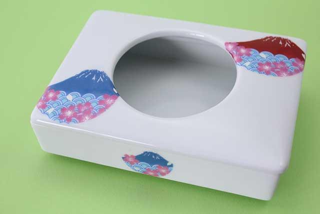 やきもの 焼き物 陶磁器 アクセサリー 小物雑貨 有田焼ミニティッシュケース 富士山桜