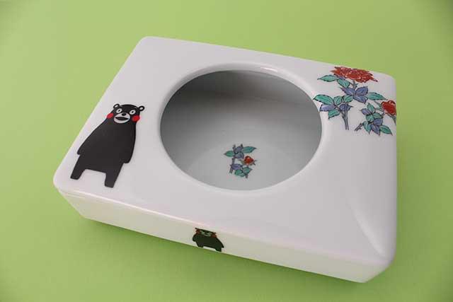 やきもの 焼き物 陶磁器 アクセサリー 小物雑貨 有田焼とくまモンのコラボ-ミニティッシュケース くまモンバラ